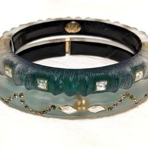 Alexis Bittar Lucite Hinge Bracelets: set of 2
